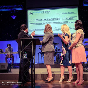 Worship in Pink® Check Presentation to WellStar Foundation